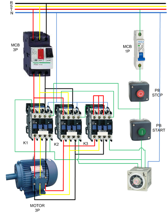 démarrage des moteurs asynchrone triphasés – elec – 13 three phase capacitor wiring diagram three phase contactor wiring diagram #14